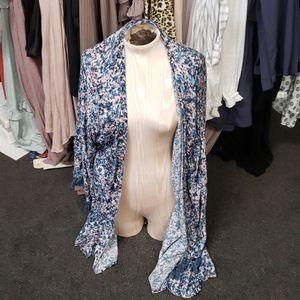 Let's Get Lost in the Garden Tassel Kimono